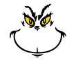 Grinch face svg, christmas svg, grinch svg file, cartoon svg, grinch cut file, Digital File Download
