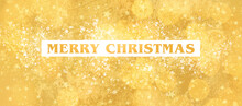Merry Christmas Banner Gold Mi...
