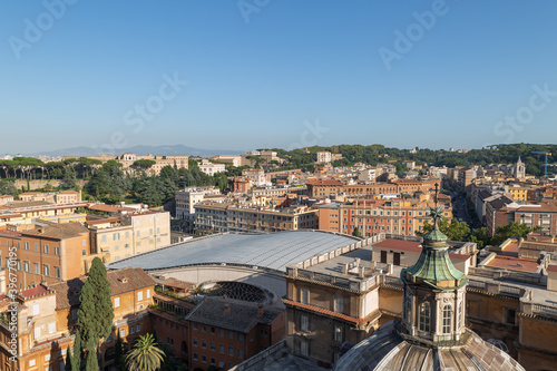 Photo Rome and Vatican city Skyline