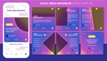 Microblog Carousel Design Template For Social Media Post