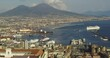 Naples, Italy. View of Mount Vesuvius and the Gulf of Naples.