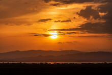 Sunset Over Abaya Lake, Dusk Landscape In The Southern Nations, Nationalities, And Peoples Region Of Southern Ethiopia. Africa Wilderness