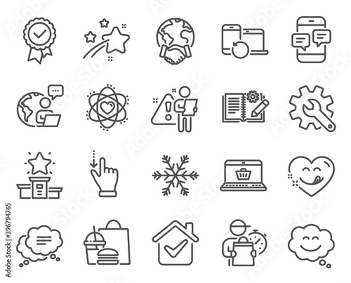 Fototapeta Technology icons set
