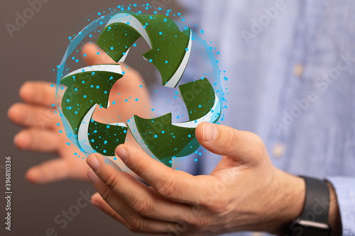 eco Concept of recycling - 3d rendering ecology
