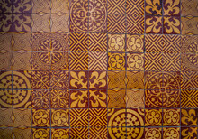 Medieval Floor Tile Pattern In Old Cathedral