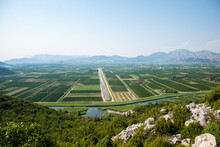 Landscape View Of Neretva Valley, The Most Fertile Part Of Croatia.
