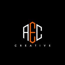 AEC Letter Initial Logo Design Template Vector Illustration