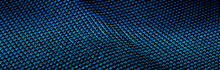 Blue Metallic Abstract Background, Futuristic Surface And High Tech Materials
