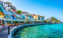 Kokkari Village Coastal View In Samos Island Of Greece.