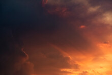 Light From Sunset Filters Through Smoke From 2019-2020 Australian Bushfire