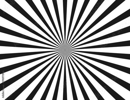 Obraz na płótnie White and black ray burst or sunburst style background vector illustration