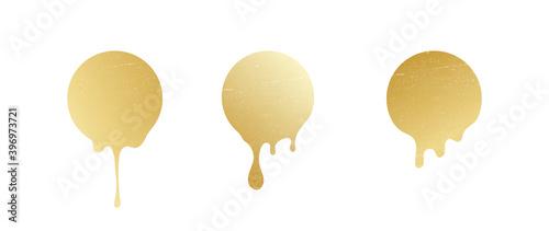 Luxury gold Honeycomb sticker on a white background Fototapeta