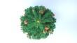 Leinwandbild Motiv Christmas Tree Red Baubles