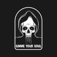 Gimme Your Soul. Unique And Trendy Poster Design.