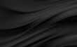 Smooth elegant black satin texture abstract background. Luxurious background design