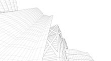 Sketch Of Modern Building