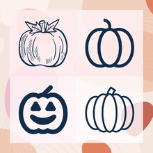 Simple Set Of Pumpkin Related ...