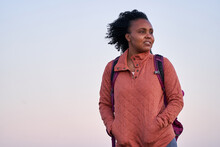 Portrait Of Black Female Hiker