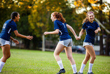 Teenage Girl Exited After Game...