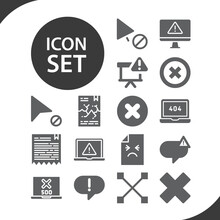Simple Set Of Erroneous Belief Related Filled Icons.