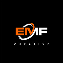 EMF Letter Initial Logo Design Template Vector Illustration