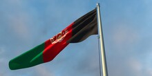 3d Rendering Of The National Flag Of The Afghanistan