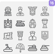 Simple Set Of Dictatorship Related Lineal Icons.