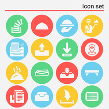 16 Pack Of Lazy Susan  Filled Web Icons Set