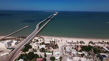 The Deep Port Of Progeso In Yucatan