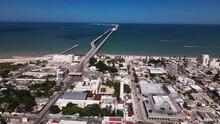 The Huge Port Of Progreso In Yucatán, Mexico