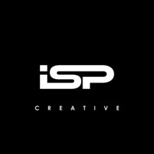 ISP Letter Initial Logo Design Template Vector Illustration