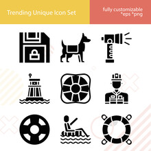 Simple Set Of Spared Related Filled Icons.