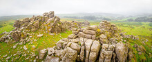 A View Of Hound Tor In Dartmoor National Park Is A Vast Moorland In The County Of Devon, In Southwest England