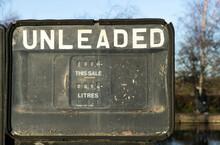 Old Faded Fuel Pump Dials