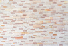 Sandstone Wall Background Of White Golden Sand Stone Jigsaw Tile, Rock Brick Modern Texture Pattern For Backdrop Decoration