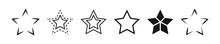 Star Vector Icon Set.