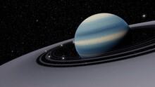 Planets And Galaxy, Science Fiction Wallpaper. Beauty Of Deep Space. Billions Of Galaxy In The Universe Cosmic Art Background 3d Render