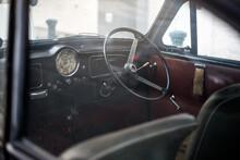 Inside View Of Retro Car
