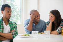 Man Surprised At Friends Flirting
