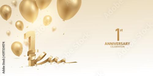 Obraz na płótnie 1st Year anniversary celebration background