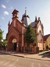 Catholic Church Of Exaltation Of Holy Cross In Zagan. Poland