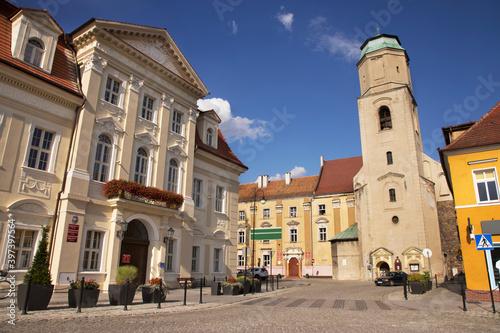 Slavic square (Plac Slowianski) in Zagan. Poland - fototapety na wymiar
