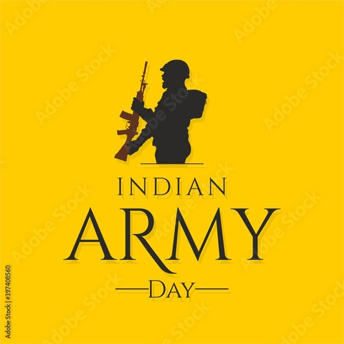 Slika na platnu Indian Army Day Banner - Illustration