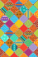 Colorful Patchwork Quilt Pattern. Seamless Texture With Geometri