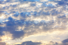 Cirrocumulus Stratiformis , Clouds In The Morning Light