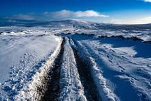 Snow On A Farm Track