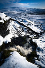 Waterfall And Snow, Yorkshire Dales