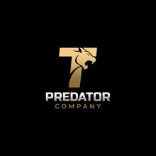 Letter T Tiger, Predator Logo Design Vector