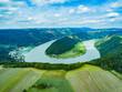 Schlögener Schlinge von oben, Oberösterreich