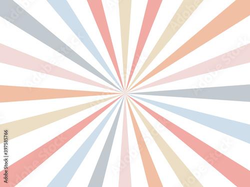 Retro burst colorful background Wallpaper Mural